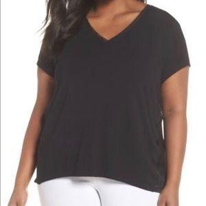 ❤️ Sejour Black V-neck Blouse in Plus Size Women❤️